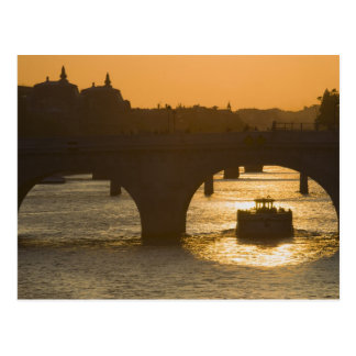 Pont Neuf, Seine, sunset, Paris, FranceMusee Postcard
