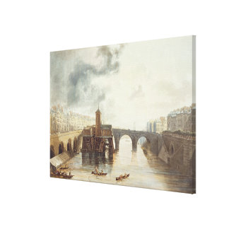 Pont Notre Dame, from 'Views on the Seine', engrav Canvas Print