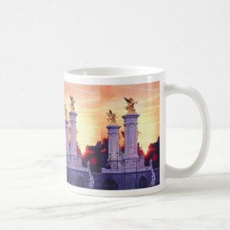 """""""Pont Nuef Est"""" Paris Sunset Watercolor Coffee Mug"""