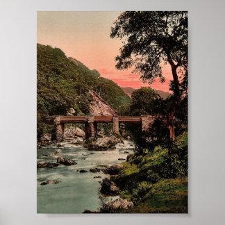 Pont-y-Pares, Bettws-y-Coed (es decir Betws), rar Póster