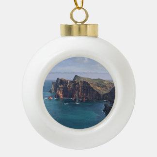 Ponta de São Lourenço, Madeira, Portugal Ceramic Ball Christmas Ornament