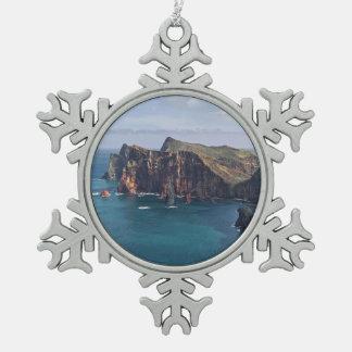 Ponta de São Lourenço, Madeira, Portugal Snowflake Pewter Christmas Ornament
