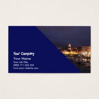 Ponta Delgada at night Business Card