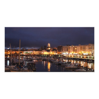 Ponta Delgada at night Card