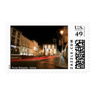 Ponta Delgada at night Postage Stamp