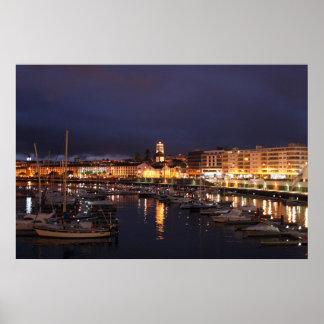 Ponta Delgada at night Poster