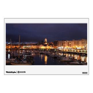 Ponta Delgada at night Wall Sticker