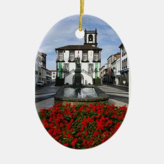 Ponta Delgada -  Azores Ceramic Ornament