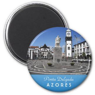 Ponta Delgada, Azores Imán Redondo 5 Cm