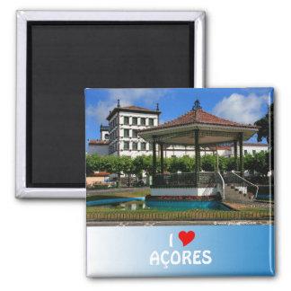 Ponta Delgada Azores 2 Inch Square Magnet