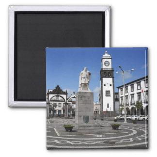 Ponta Delgada, Azores 2 Inch Square Magnet