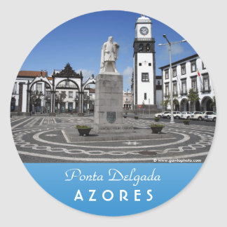 Ponta Delgada, Azores Pegatina Redonda