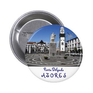 Ponta Delgada, Azores Pin Redondo 5 Cm