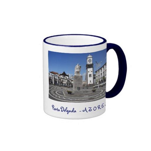 Ponta Delgada, Azores Ringer Coffee Mug