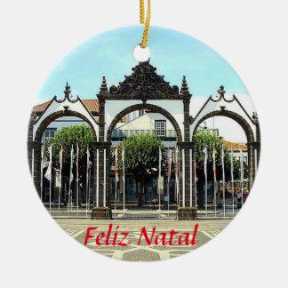 Ponta Delgada Azores Scenic Christmas Ornament