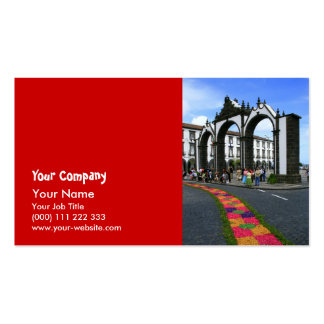 Ponta Delgada city gates Business Card
