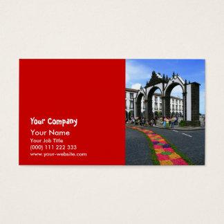 Ponta Delgada city gates Business Card