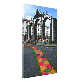 Ponta Delgada city gates Canvas Print