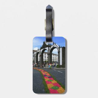 Ponta Delgada city gates Tag For Bags