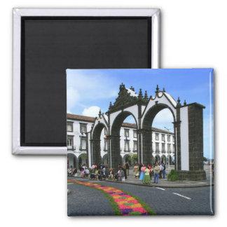 Ponta Delgada city gates 2 Inch Square Magnet