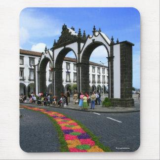 Ponta Delgada city gates Mouse Pad