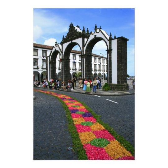 Ponta Delgada city gates Photo Print