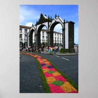 Ponta Delgada city gates Poster