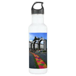 Ponta Delgada city gates Stainless Steel Water Bottle