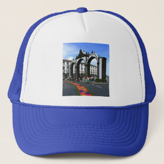 Ponta Delgada city gates Trucker Hat