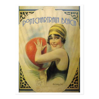 Pontchartrain Beach Poster Card Postcard