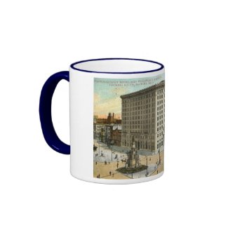 Pontchartrain Hotel, Detroit MI 1908 Vintage mug