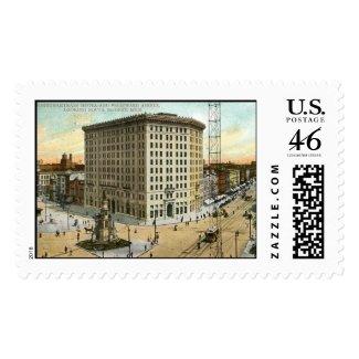 Pontchartrain Hotel, Detroit MI 1908 Vintage stamp