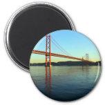 Ponte 25 de Abril, LIsboa, Portugal Imán Redondo 5 Cm