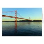 Ponte 25 de Abril, LIsboa, Portugal Tarjeta De Felicitación