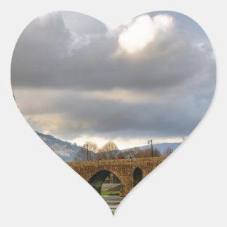 Ponte de Lima bridge Heart Sticker