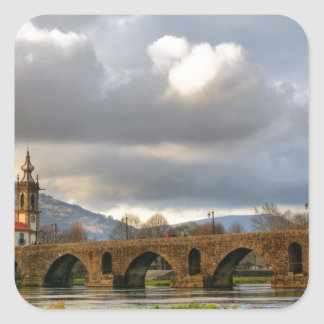 Ponte de Lima bridge Square Sticker