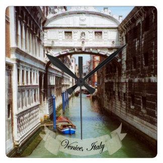 Ponte dei Sospiri Venezia Italia Souvenir Square Wall Clock