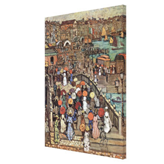Ponte Della Paglia, Venice by Maurice Prendergast Canvas Print
