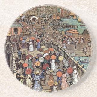 Ponte Della Paglia, Venice by Maurice Prendergast Sandstone Coaster