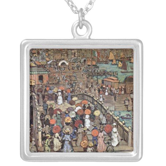 Ponte Della Paglia, Venice by Maurice Prendergast Silver Plated Necklace