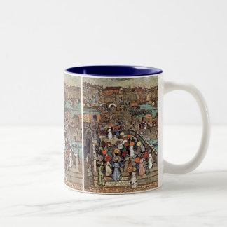 Ponte Della Paglia, Venice by Maurice Prendergast Two-Tone Coffee Mug