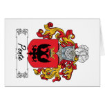 Ponte Family Crest Greeting Card