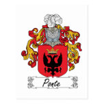 Ponte Family Crest Post Cards