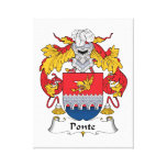Ponte Family Crest Stretched Canvas Print
