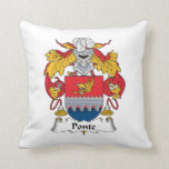Ponte Family Crest Throw Pillow