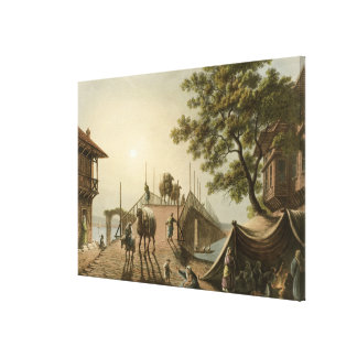 Ponte Piccolo in Romania, plate 9 from 'Views in t Canvas Print