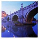 Ponte Sant Ángel y Castel Sant Ángel encima Azulejos Ceramicos