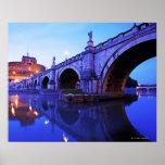 Ponte Sant Ángel y Castel Sant Ángel encima Posters