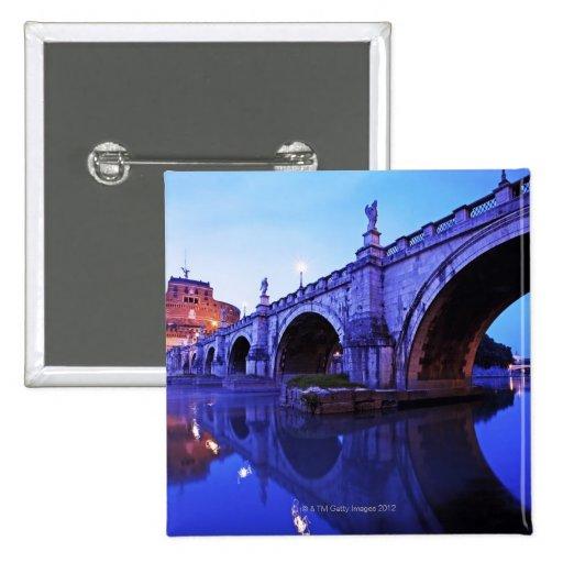 Ponte Sant Ángel y Castel Sant Ángel encima Pin