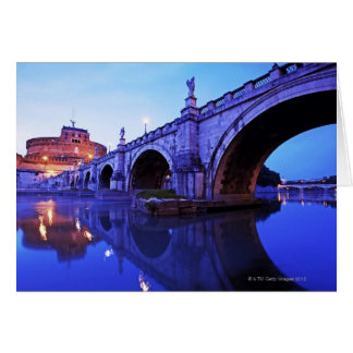 Ponte Sant' Angelo and Castel Sant' Angelo over Card